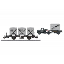 Behältertragwagen-Set DB Epoche III Märklin 58472