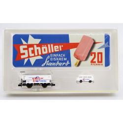 Minitrix Museumswagen 2002 Kühlwagen Schöller Eiscreme