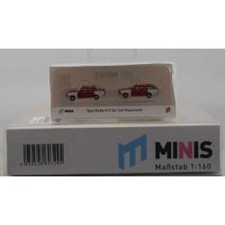 MINIS LC4510 Opel Rekord D 2er Set Feuerwehr